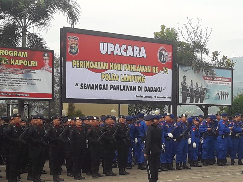 """IMG-20181110-WA0034 Peringati Hari Pahlawan, Polda Lampung : """"Semangat Pahlawan Di Dadaku"""""""