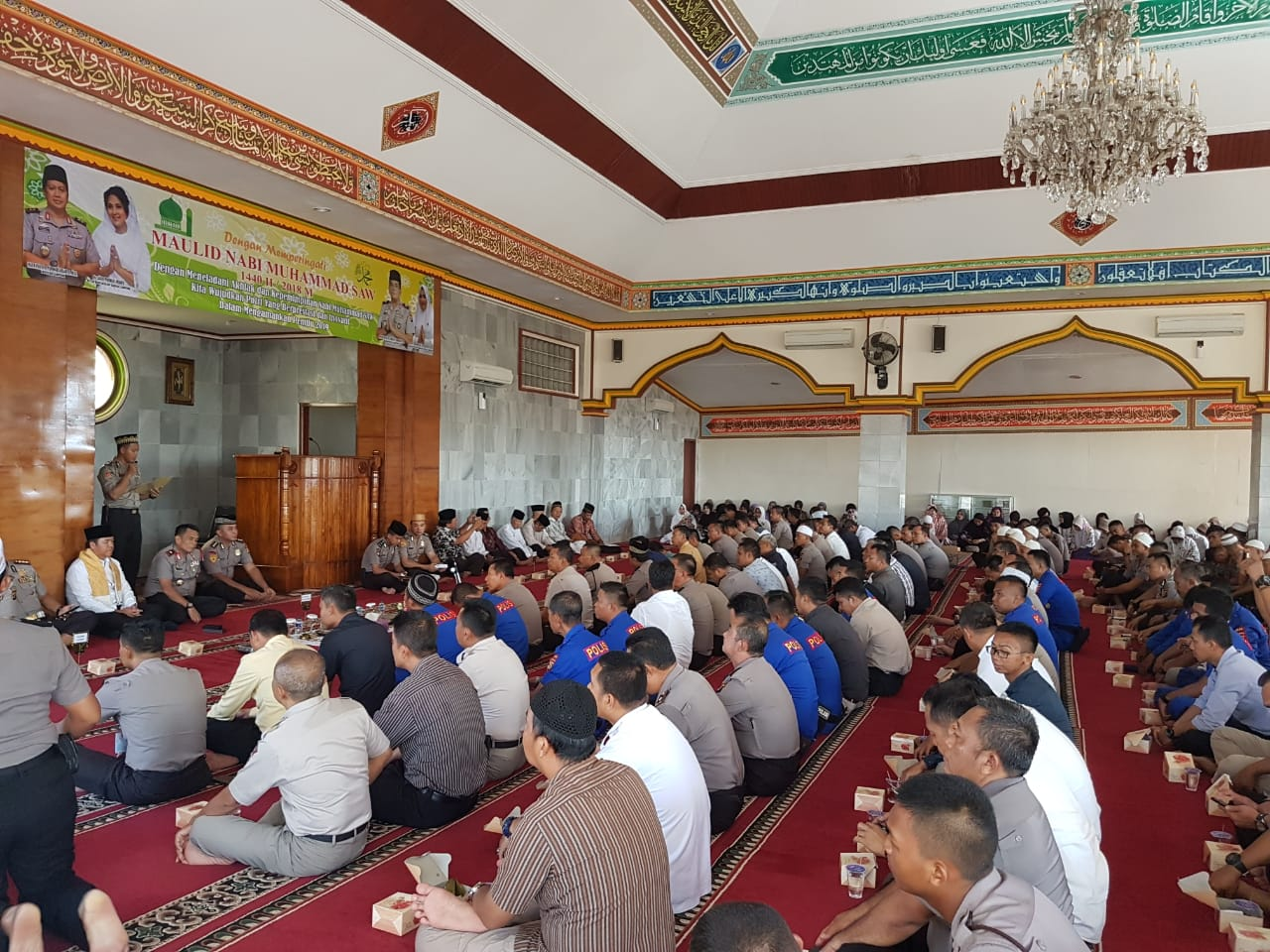 "IMG-20181122-WA0053 Peringati Maulid Nabi Muhammad SAW 1440 H, Wakapolda : ""Wujudkan Polri Berprestasi & Inovatif"""