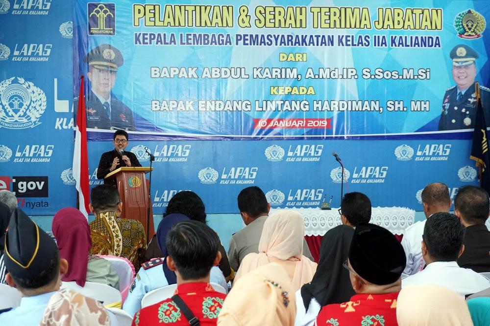 IMG-20190110-WA0064 Kakanwil Kemenkumham Lampung Pimpin Sertijab Kalapas Kelas II A Kalianda