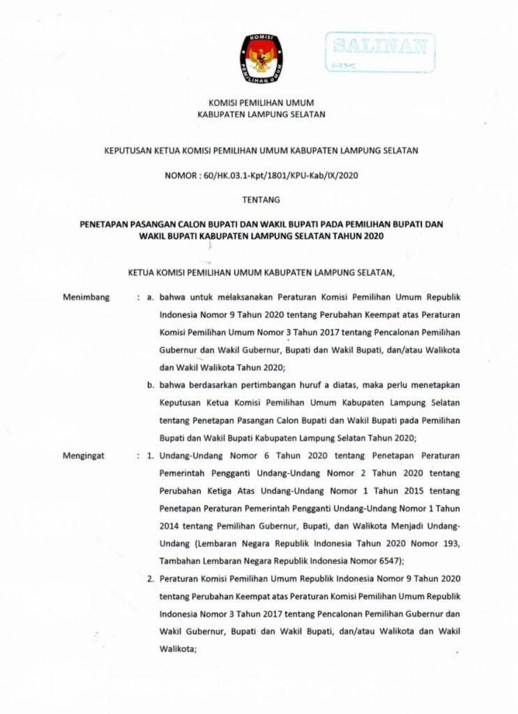 IMG-20200923-WA0028-743x1024 Nanang-Pandu Maju Sebagai Paslon, Sedangkan Himel Tak Lolos di KPU Lamsel